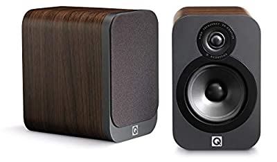 Q Acoustics 3020 Bookshelf Speakers (Pair) (American Walnut) by Q Acoustics