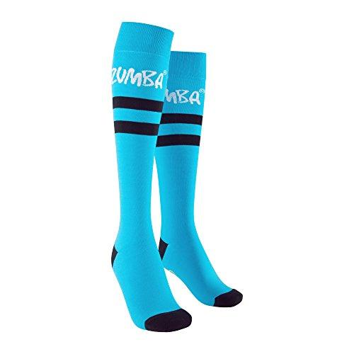 Zumba Fitness Damen AC Easy Peace-Y High Socks, Bangin Blue, One Size