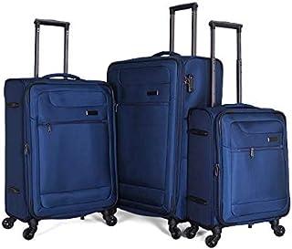 جيوردانو حقائب سفر بعجلات للجنسين 3 قطع ، كحلي ، 163098