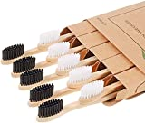 Cepillo Dientes Bambu 10 unidades, 100% libre de BPA, diseño individual, Biodegradables Ecológicos y Embalaje Reciclable ,natural, ecológico