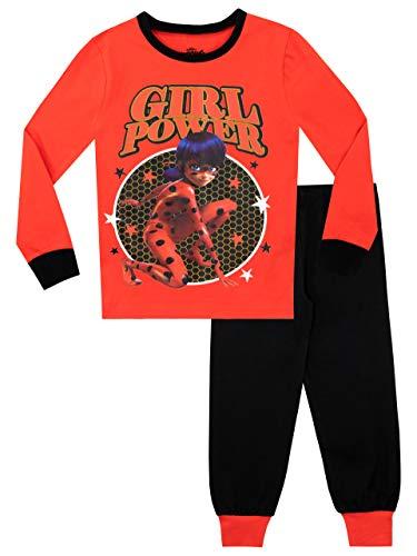 Miraculous Pijamas de Manga Larga para niñas Ajuste Ceñido Rojo 11-12 Años