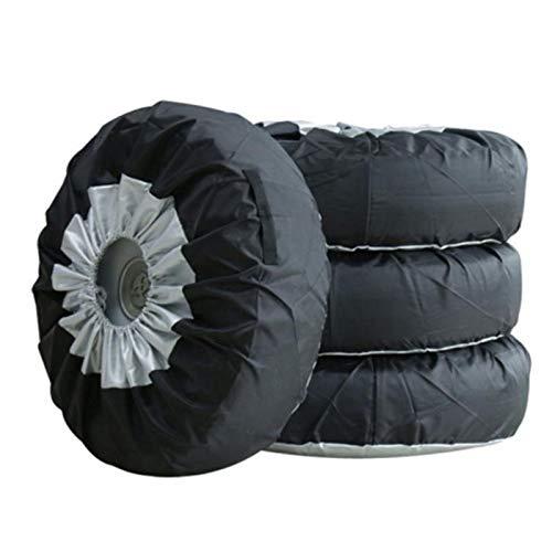 Tamkyo 4 delat däckskydd, vinter sommardäck skydd, bil ersättning däckskydd, förvaringsväskor, bärväska, hjulskydd