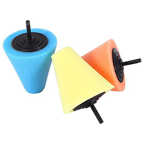 Qiilu polijstpads voor schuim, kegelvormige polijstpads voor wielen, te gebruiken met boormachine