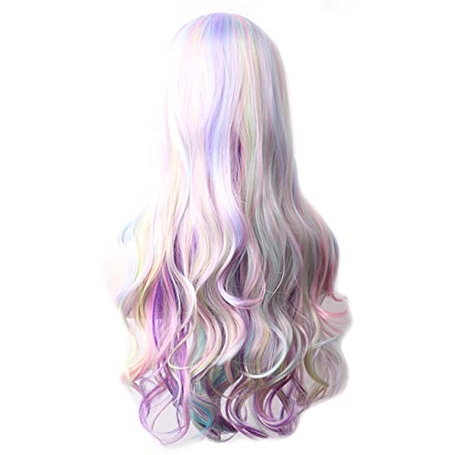 Wavy Purple Synthetic 5 ☆ very popular Wig Long Hair Wom For Colored Wigs Cosplay Gorgeous