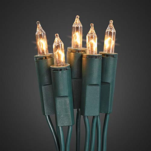 Hellum 831115 Lichterkette 10 Pisellokerzen klar / 4,35 m/innen/Zuleitung 2x1,5 m grün