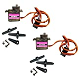 RLECS 2pcs Upgraded SG90 Digital Micro Servos MG90S 9g Metal Gear Micro Tower Pro Servo for RC Vehicle Helicopter Boat Car Models
