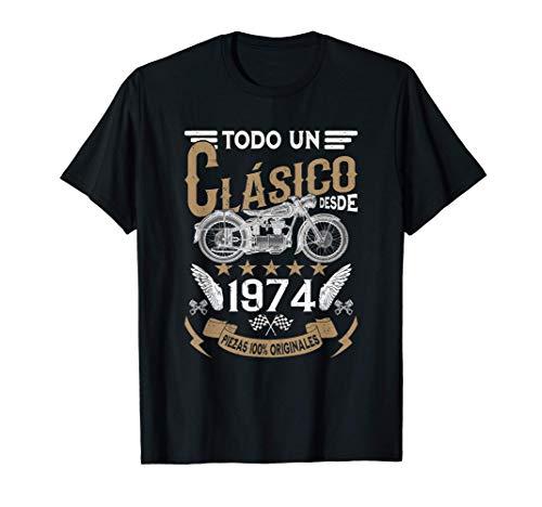 Hombre Motero Todo Un Clásico Nacido En 1974 Cumpleaños Camiseta