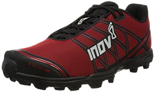 Inov-8 Unisex X-Talon 200 | Super Lightweight OCR Trail Running Shoe | Wide Fit | Perfect for Mud and Obstacle Races | Red/Black M4.5/ W6