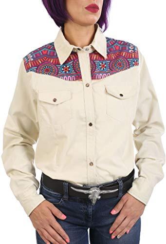 Last Rebels Country - Camisa para mujer, color beige beige L