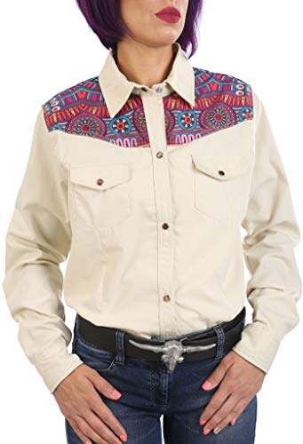 Last Rebels Country - Camisa para mujer, color beige beige L