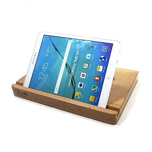 Massivholz/Echtholz Tablet-Hülle mit Ständer und Echtlederverschluss - Asus ZenPad 10 / VivoTab 10 / MemoPad ME102A - Medion Lifetab S10351