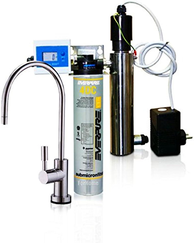 Wasserfilter System ForHome EasyPure für die küche Mikrofiltrations Wasser Ultrafilter Anlage unter der Spüle Wasseraufbereiter mit UV-Lampe Wasserfilter Untertisch Everpure 4DC