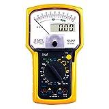 Milnnare Multimetre, Appareil de contrôle précis d'outil Actuel d'OHM de Tension de multimètre Analogue numérique Black+Yellow