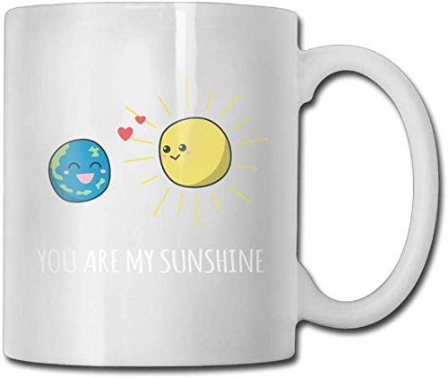 Tú sei Sunshine Plananeti del sistema solar Taza de café personalizada 11 oz Idea masculina Regalos de cerámica taza de té