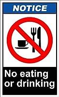 ユニークな壁の装飾金属ポスター壁プラーク、飲食禁止の通知、スズ看板アート鉄絵画金属プラークヴィンテージ壁の装飾ポスターハウスカフェレストランバー