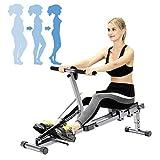 ZhiLianZhao Aparato de Remo para Fitness, Máquina de Remo Plegable de Interior, con Ajutable Resistencia para Entrenamiento Cardiovascular