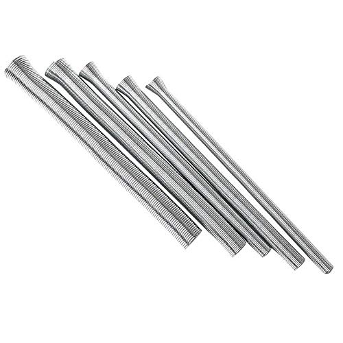 """Vogueing Tool Dobladora de tubos de resorte de la máquina dobladora de tubos de refrigeración para tubo de cobre de 1/4"""" 5/16"""" 3/8"""" 1/2"""" 5/8"""""""
