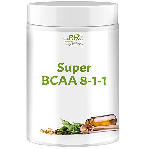 Super BCAA 8:1:1 Hochdosiert - stärkstes Aminosäuren Pulver, L-Leucine, L-Valine, L-Isoleucine, Verzweigtkettige essentielle Aminosäure, Nahrungsergänzungsmittel