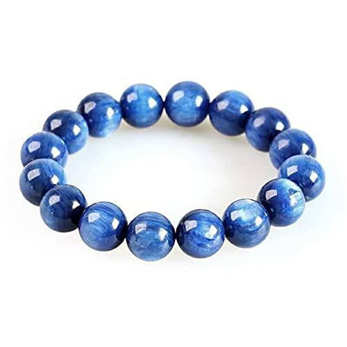 13mm azul natural cianita pulsera joyería para las mujeres hombres cristal estiramiento ojo de gato...