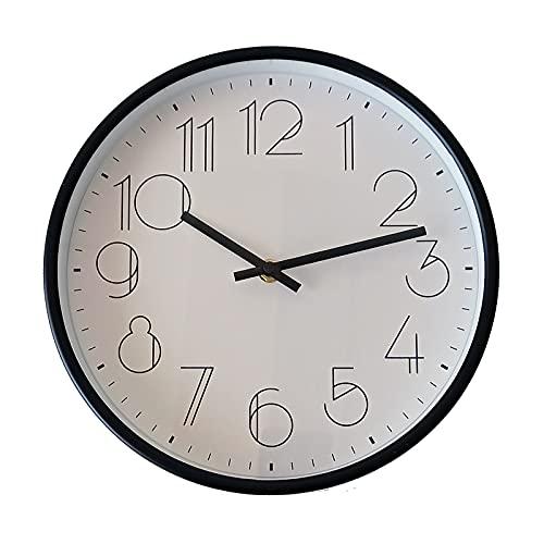 TETI`S Ducks Home - Reloj de Pared clásico, con números Grandes, diámetro Ø 25 cm. Decorativo para el hogar/la Cocina/la Oficina/la Escuela, fácil Leer. (Blanco Gótico)