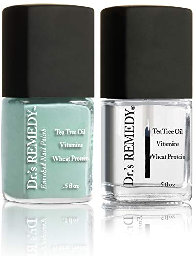 Dr.'s REMEDY Enriched Nail Polish, TRUSTING Turquoise with Base coat
