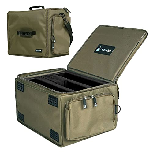 Pirate Lab MTG Card Storage Case, Holds 36 Deck Boxes (3300+ Cards) - Shoulder Strap, Foam Tray and Dividers - TCG, Yu-Gi-Oh!, Pokemon, Portable Card Game Carrier (X-Large, Olive Drab)