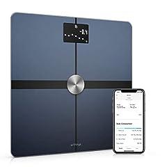Withings Body+ – inteligentna skala Wi-Fi z funkcją składu ciała, pomiar tkanki tłuszczowej, BMI, masa mięśniowa, zawartość wody, cyfrowa skala tkanki tłuszczowej, synchronizacja aplikacji przez Bluetooth lub Wi-Fi
