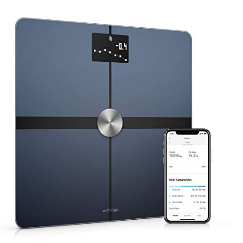Withings Body+ - Wi-Fi Body Composition Smart Scale, Body Fat Monitor,...