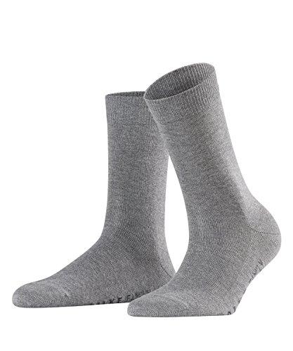 FALKE Damen Socken Family - 94% Baumwolle, 1 Paar, Grau (Grey Mix 3399), Größe: 39-42