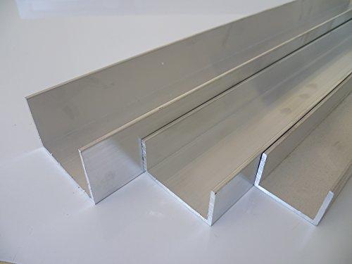 B&T Metall Aluminium U Profil 50 x 30 x 2 mm aus AlMgSi0,5 F22 schweissbar eloxierfähig Länge ca. 2 mtr. (2000 mm +0/- 3 mm)