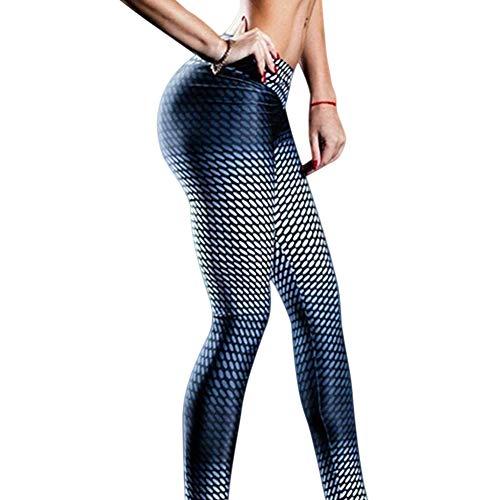 LHDDWY - Mallas de compresión anticelulítica para mujer, cintura alta, leggings delgados, quemador de grasa para correr, pantalones de yoga para deporte y gimnasio