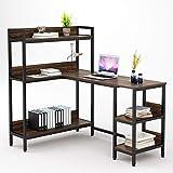 Umekesa L Shaped Desk with 5 Storage Shelves, 55