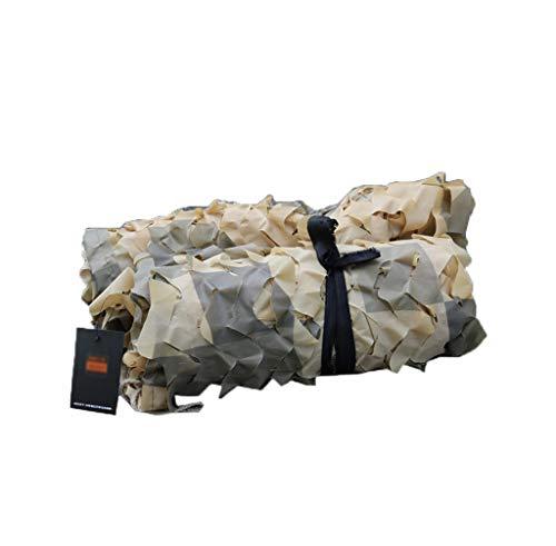 SJIAWZW Wüsten-Tarnnetz, Tarnnetz-Abdeckung Berg-Sonnenschutz-Dekorationsnetz, Abdeckungs-Autonetzwerk-Militärfahrzeug-Netz (Wüsten-Farbe) (größe : 6 * 6m)