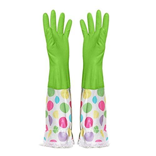Summer vaisselles Gants Gants imperméables Gants de nettoyage -Vert