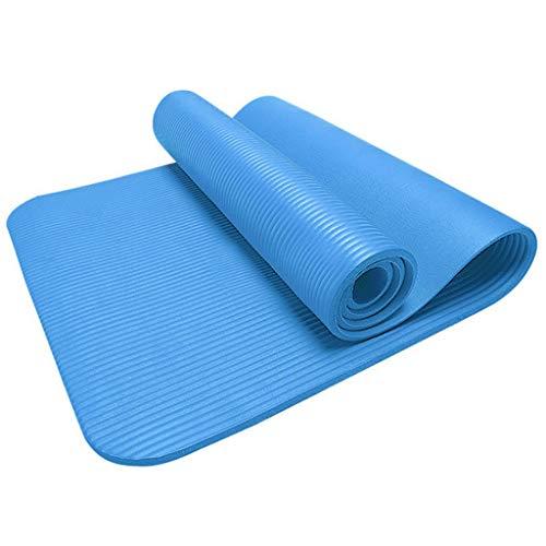 Comie 4MM rutschfeste Yogamatte, Gymnastikmatte Fitness Trainingsmatte Haltbare Fitnessmatte Premium Sportmatte Yoga Matte Mat Übung Gym Workout Handtuch Decke 4MM (Himmelblau)