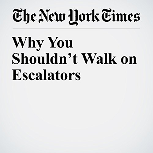 Why You Shouldn't Walk on Escalators copertina
