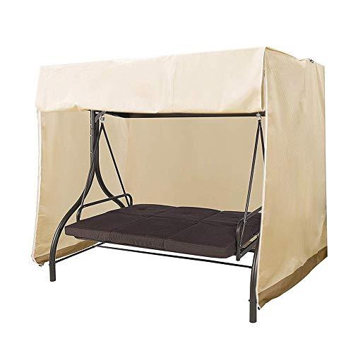 su-luoyu - Cubierta Protectora Impermeable para balancín de jardín, protección contra el Polvo y protección Solar, fácil de Doblar y Transportar para Muebles de jardín al Aire Libre