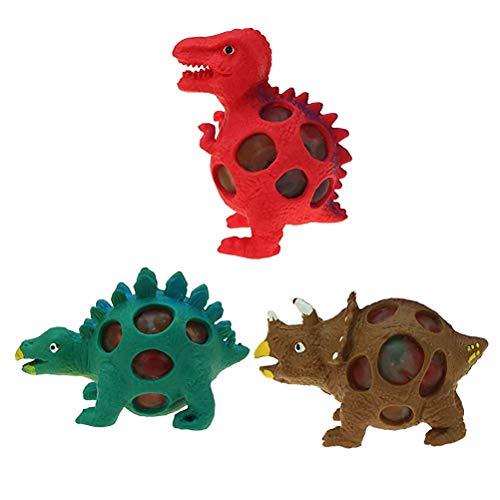 3pcs Squeezy Dinosaur Toys Bolas para Aliviar el Estrés Juguete Sensorial Fidget Juguetes de Descompresión para Niños y Adultos