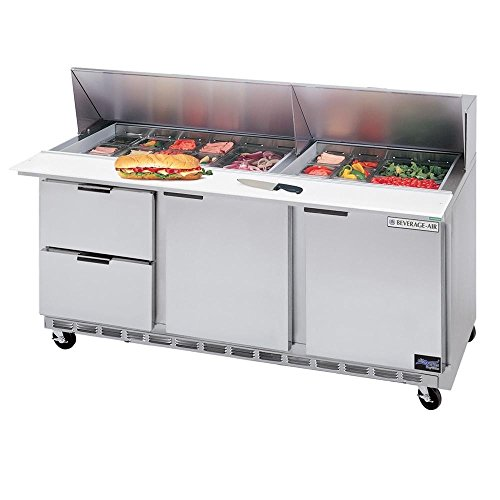 Check Out This Beverage Air SPED72-08-4 72 Refrigerated Sandwich Prep Table