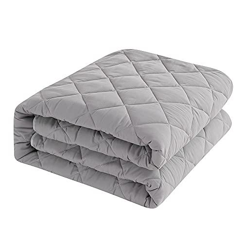 敷きパッド クイーン 吸汗通気 ベッドパッド オールシーズン 良いクッション性 柔らか 防臭防ダニ ベッドマット ベッドシーツ 丈夫な生地 ホコリ出ない 強化ゴムバンド付 洗える 160×200cm グレー
