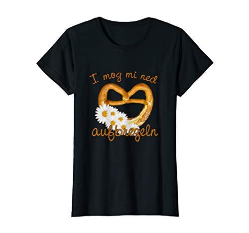 Damen Lustiges I Mog Mi Ned Aufbrezeln Wiesn Frauen Dirndl Shirt T-Shirt