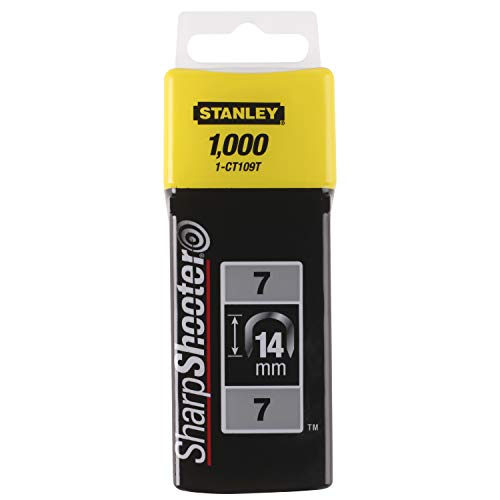 Stanley Kabelklammern CT100 (14 mm, Gebogene Klammern für Stanley Kabeltacker, rostbeständig, 1000 Stück) 1-CT109T