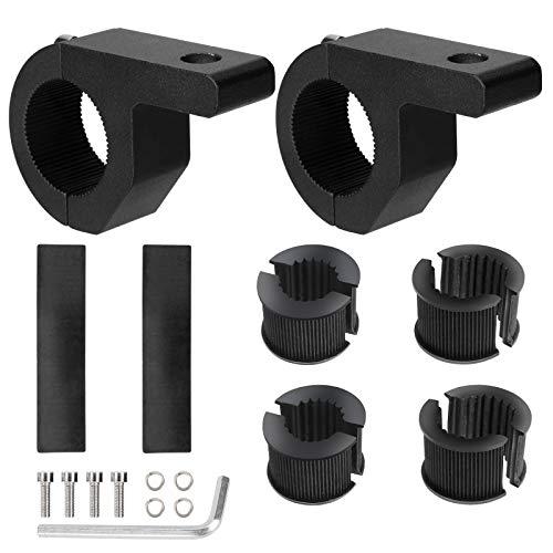 Soporte de Montaje de Barra de Luz 19-32mm Universal Abrazaderas de Tubo de Luz LED Trabajo para Vehículos Todoterreno Camión Motocicleta 2 Piezas