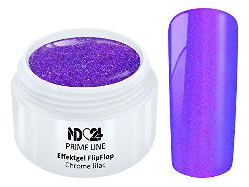 Prime Line - Uv Led Effekt Gel Flipflop Chrome Lilac Lila - Made in Germany - 5ml