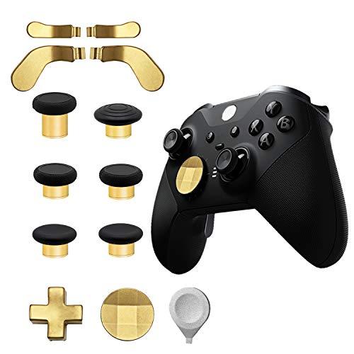 Elite Series 2 Controller-Ersatzteil-Zubehör-Set, 2 D-Pads-Kits, 4 Paddel-Haar-Trigger-Knöpfe (Mini und Medium), Thumbsticks-Ersatz für Elite Series 2 Controller