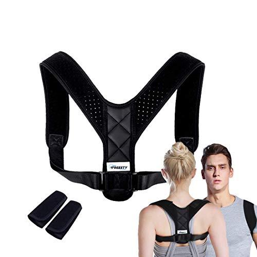 FREESTY Haltungskorrektur, Effektiv und Komfortabel Geradehalter für Frauen und Männer, Perfekt als Schulterstütze, Korrektur des oberen Rückens und bei Nackenschmerzen