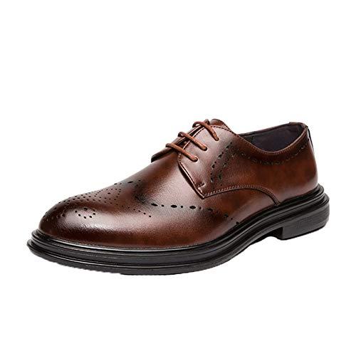 Zapatos Brogue para Hombre, Zapatos Derby de tacón bajo Retro, Zapatos de...