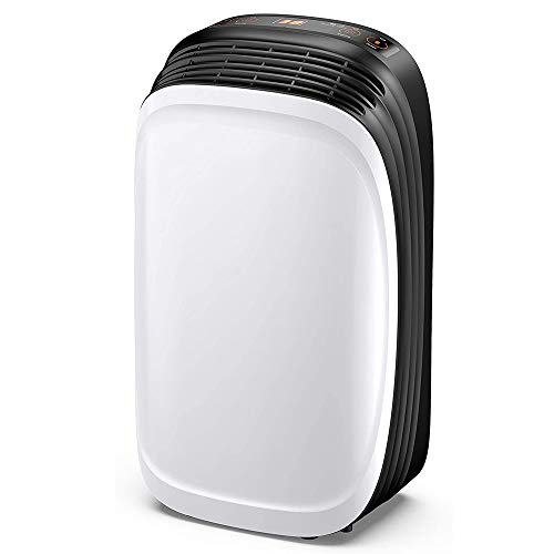 Read About HWZQHJY 30 Pint Dehumidifier for Home Basements Bedroom Garage, Safe Mid Size Portable De...