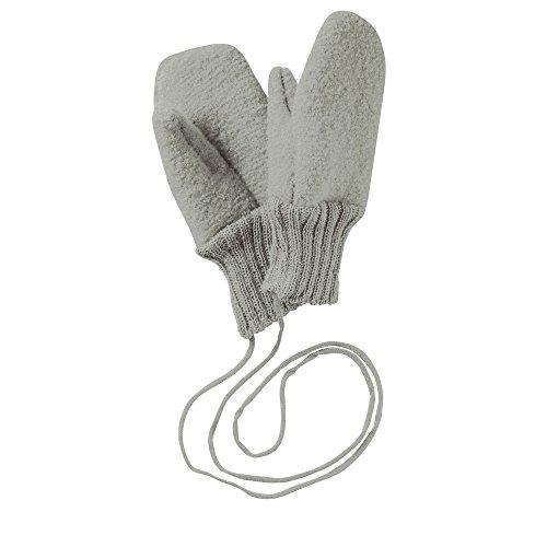 Disana Baby-Fäustlinge aus gekochter Wolle,S,Grau