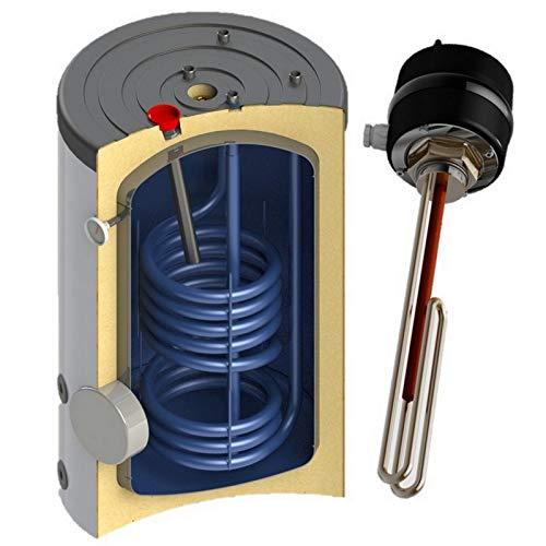 Warmwasserspeicher Boiler Elektro mit 1 Wärmetauscher mit oder ohne Elektroheizstab, Anschlüsse oben in der Größe 150 160 L Liter